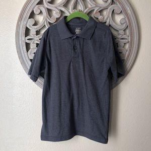 Faded glory polo shirt dark heathered grey